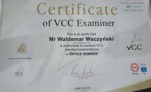 VCC - egzaminator Waldemar Waczyński