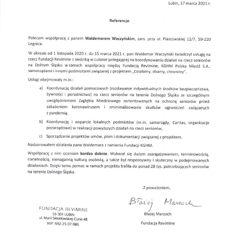 Fundacja Revimine, KGHM Polska Miedź S.A.